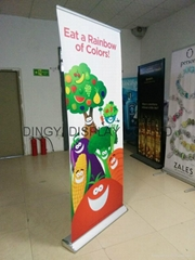 Deluxe roll up stand banner aluminum material