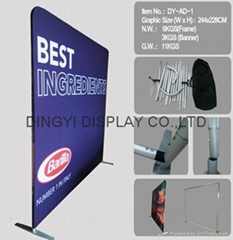 Straight shape aluminum express banner stand