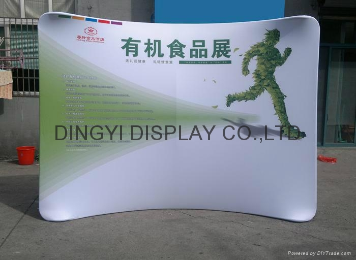 8ft curve shape aluminum tension fabric display 1