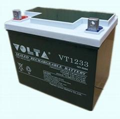 廠家供應VOLTA(沃塔)12V33AH鉛酸蓄電池免維護型