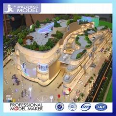 Commercial building miniature architectural scale models