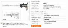 Left-handed Digital Caliper With Absolute Incremental Measurement / Vernier Cali