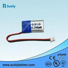 Mini Speaker battery 3.7V 45mAh 301120 rechargeable lipo battery