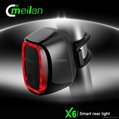 Bike Rear light Smart cycle light Meilan X5 led bicycle backlight