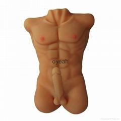 歐悅玩具女用仿真陽具器具男模半身倒模女性自慰名器成人用品