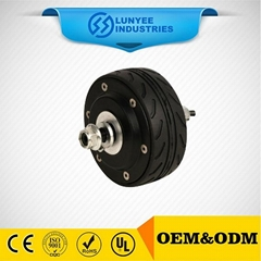 200W 4 inch brushless and gearless hub motor for skateboard