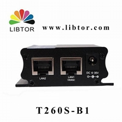 Libtor CDMA Industrial 3g router with 1 sim card slot for monitoring IP camera