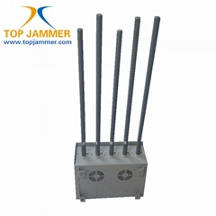 5 Bands 75W High Power Mobile Signal Jammer Blocker Isolator GSM DCS 3G Wifi