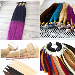 tape in hair extension 100% remy virgin hair extensions