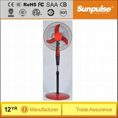 Red / Blue 12v dc solar table fan price with timer
