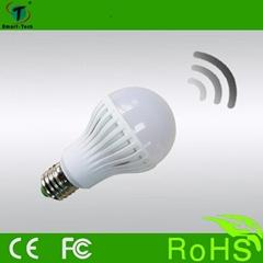 High Quality E27 5w 7w 9w indoor motion sensor led light bulb