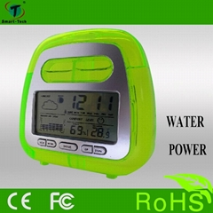 water power weather station clock