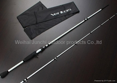 "White Abu Garcia 6'9"" MH Fishing Rod Baitcasting rod 2 Section Carbon Baitcast R"