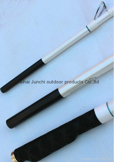4.2m 3 Section Surfcasting Rod Metal Reel Seat High Carbon Surf Casting Fishing  5