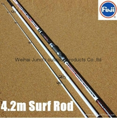 4.2m 3 Section High Carbon Surf Rod With Fuji Reel Seat and Guide