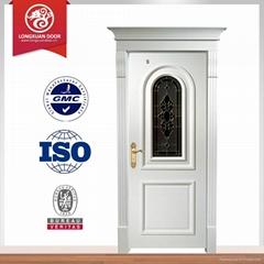 Solid wood door internal bedroom door design white color