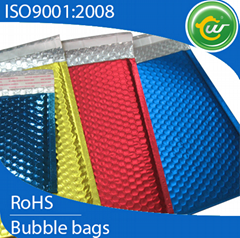Metallic bubble mailers