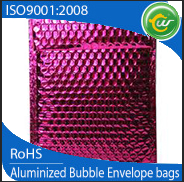Pink mailers aluminum foil metallic bubble mailers