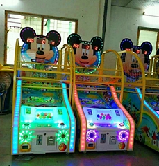 Mickey Face - Coin Operated Amusement Park Kids Basketball Arcade Game machine