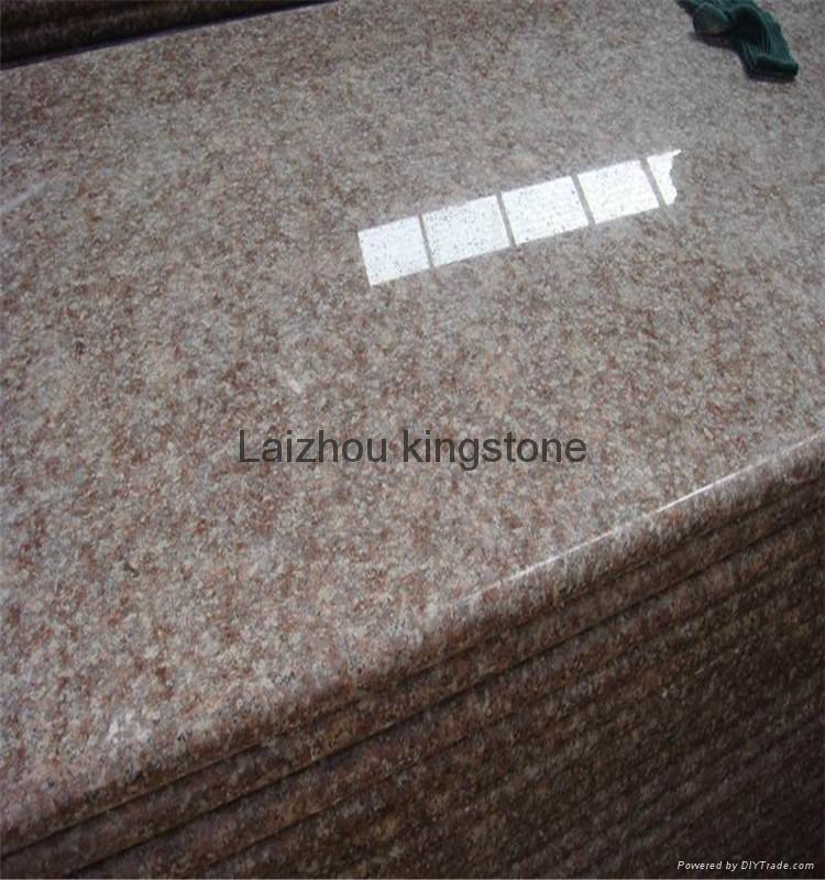 G687 Peach Red cheap granite stair step 1