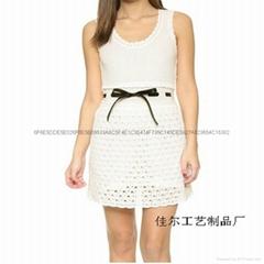 鉤編時尚連衣裙