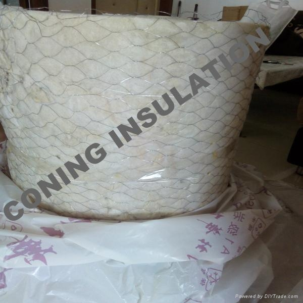 Coning insulation rock wool wire mesh blanket knrw 004 for Mineral wool blanket