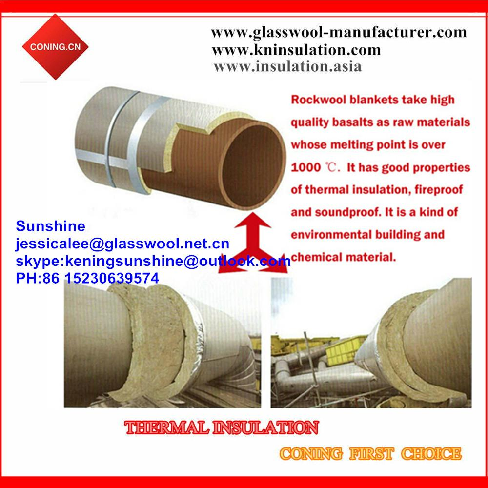 Coning insulation mineral wool roll knrw 007 china for Mineral wool installation