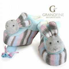 knit & velvet bunny baby booties soft newborn baby shoes