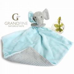 elephant baby bib girl doll with EN71