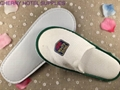 Velour custom indoor guest hotel slippers embroidary logo 3