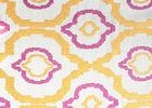 Jacquard Upholstery Silk Organza Fabric Purple And Gold Washable