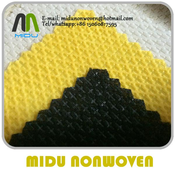 cross pattern Spunbond PP Non Woven Fabric pp cambrelle shoes interlining 5