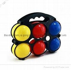 sell plastic soft bocce sets boule sets boccia ball