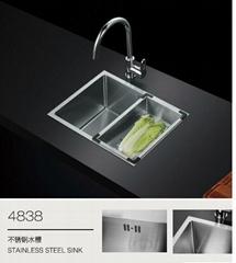 Modern Stainless Steel Kitchen Sink With Drain Board