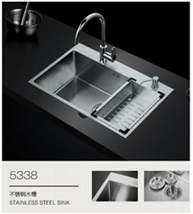 304 square stainless steel handmade double bowl undermount kitchen sink