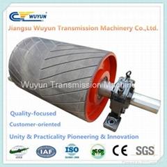 Driving conveyor Rubber steel Roller Drum for Conveyor Belt