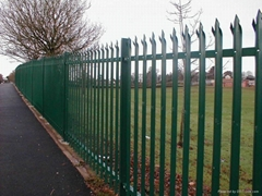 Factory cheap & high quality galvanized and pvc coated steel palisade fencing
