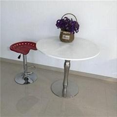 White Wooden Square Restaurant Table
