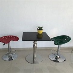 Black Wooden Square Bar Table