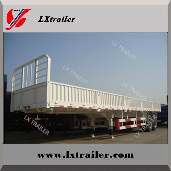 3 axle side wall cargo box semi trailers for hot sale 1