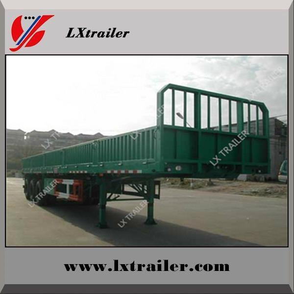 3 axle side wall cargo box semi trailers for hot sale 3