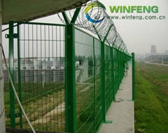 high security welded mesh airport fence