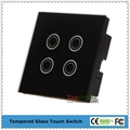 UK Type Mobile APP Remote Control Glass Touch Panel Light Switches 3