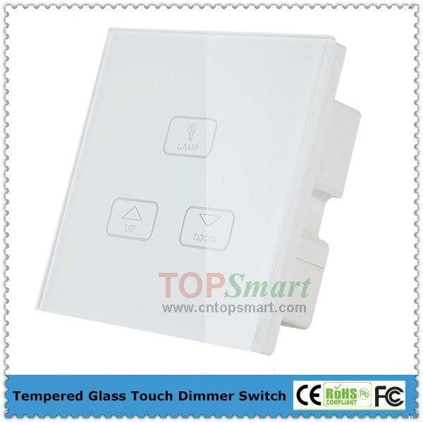 UK Standard Wifi Mobile APP Remote Control Light Dimmer Touch Panel Switches 4