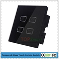 UK Standard Wifi Mobile APP  Remote Control Curtain Touch Panel Switches 5