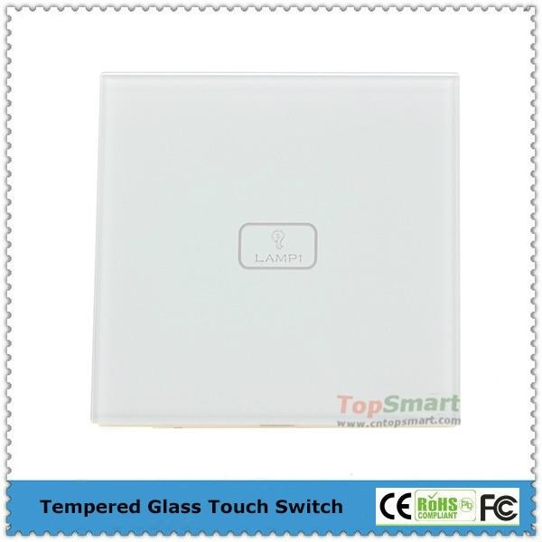 UK Standard  1 gang 1 way or 2 way Remote Control Light Touch Panel Switches 3