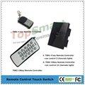 UK Standard  2 gang 1 way or 2 way Remote Control Light Touch Panel Switches 3