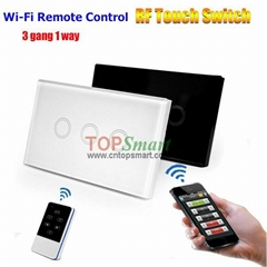 US/AU Standard Wifi Mobile APP Remote Control Touch Panel Light Switches