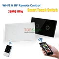 US/AU Standard Wifi Mobile APP Remote Control Touch Panel Light Switches 3