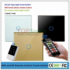 EU/UK Mobile APP  Remote Control Touch Panel Switch